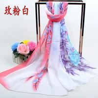 2016 new scarf summer pashmina women's scarf long shawl printed cape Polyester chiffon tippet muffler echarpes Scarves