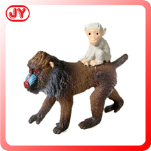 Lifelike Hand painted Monkey Model with baby