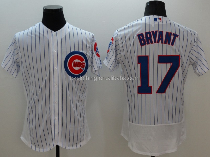 Men's Chicago Cubs Kris Bryant #17 White Flexbase Jersey