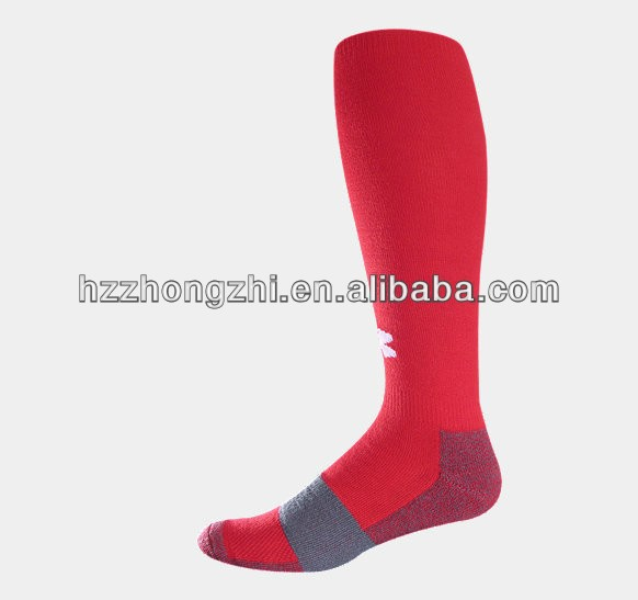 Knee high full terry polypropylene athletic compression basketballl socks