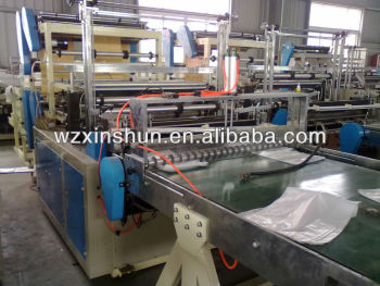 SHXJ-B Four Lines Hot Sealing Cold Cutting Bag Making Machine with Conveyor