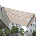 2018 Economic waterproof polyester fabric sunshade outside window cassette aluminum retractable awnings
