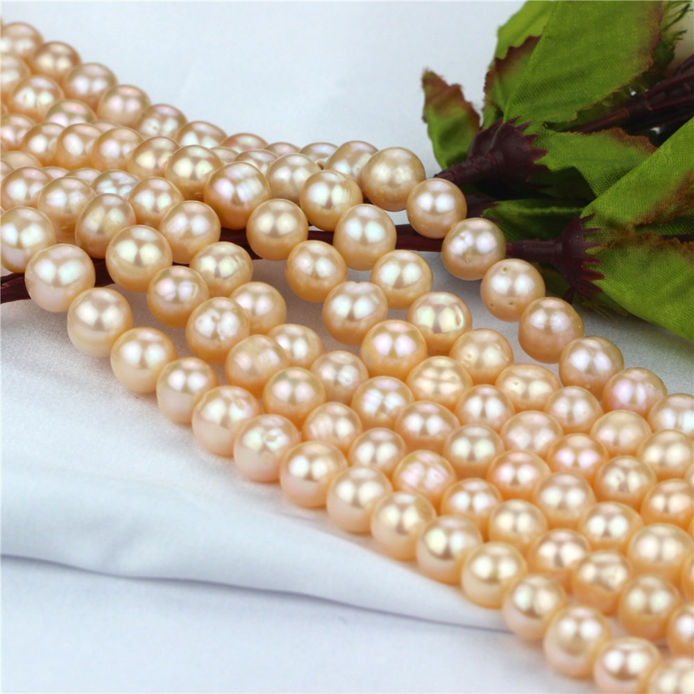 10mm off round AA- genuine natural freshwater pearl for jewelry making