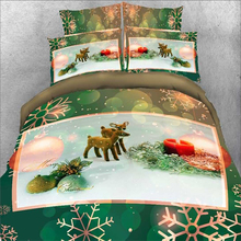 Home Textile Dubai Wholesale 3D Digital Printed Merry Christmas Design Quilt Cover , Bed Sheet Set