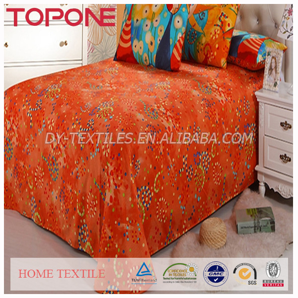 2017 New Fashion Design High Quality Oem Colorful Best Price Pcotton Cat Printed Bedding Set