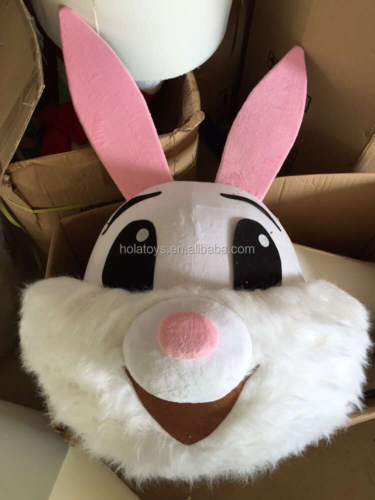 Lovely rabbit mascot head/custom mascot head for adult