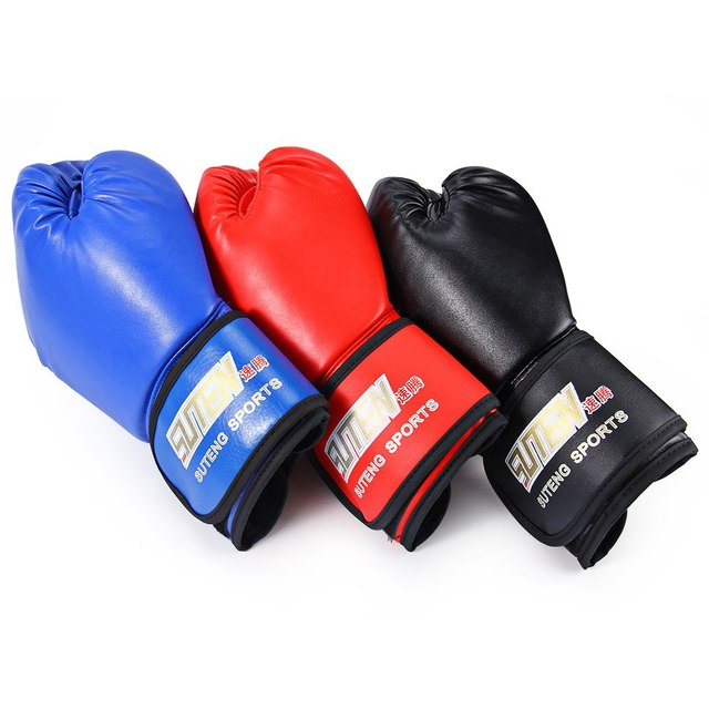 3 Colors SUTEN 1 Pair PU Leather Sport Fitness Boxing Kickboxing Training Fighting Sandbag Gloves for Fighters