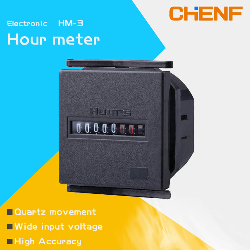 HM-3 AC24V motorcycle hour meter Industrial Digital Electronic Mechanical <strong>Timer</strong> for Cars and Machinery