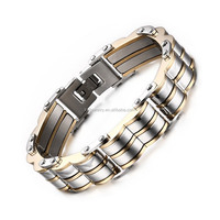 Latest Stainless Steel Mens Bracelet Double Line Wholesale