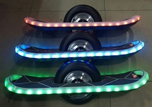 2016 Hottest sell electric DIY handmade single wheel smart electric scooter one wheel skateboard with LED light & Bluethooth