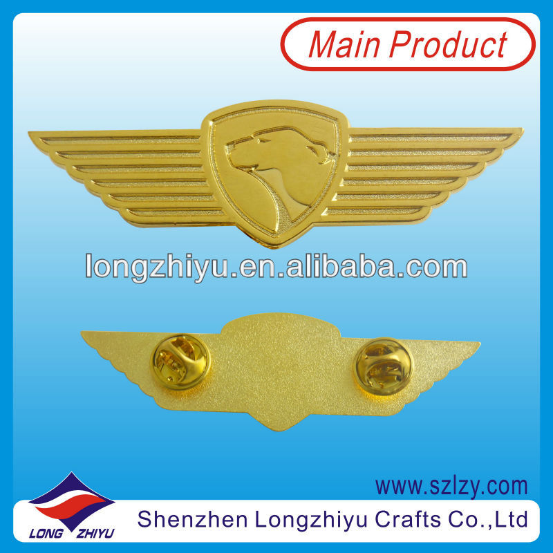 Company Uniform Military Name Badge Metals,Metallic Lapel Pin Badge China Manufacturer