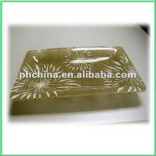 VC-18 Table Top Acrylic Food/Fruit/Wine/Coffee Tray/Plateau,Eco-friendly Heat Bending Rectagular Acrylic Dessert Tray
