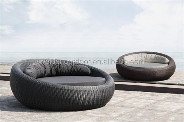New Bali Rattan Outdoor Garden Furniture Pool Sun Lounger Round Bed