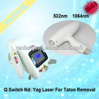 Portable Q Switched Laser Tattoo Removal Beauty Machine
