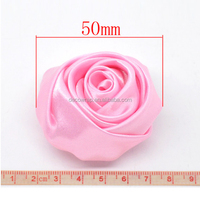 Poly satin fabric rose flowers