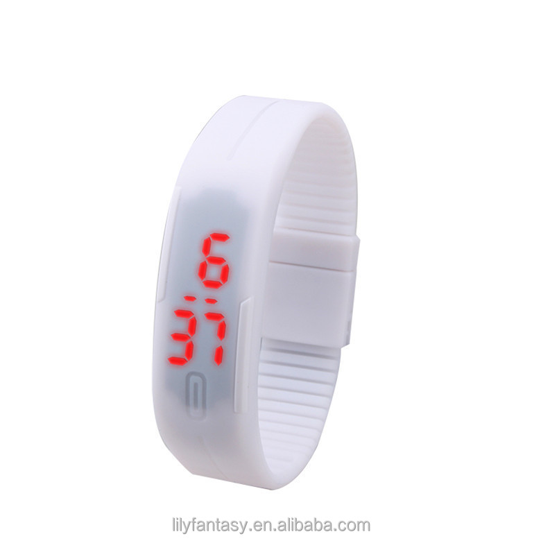 2016 Fashion Sports Ultra Thin Silicone Digital LED Sports Bracelet Wrist Watch,many colors assorted