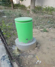 network pedestal in the ground fiber green box