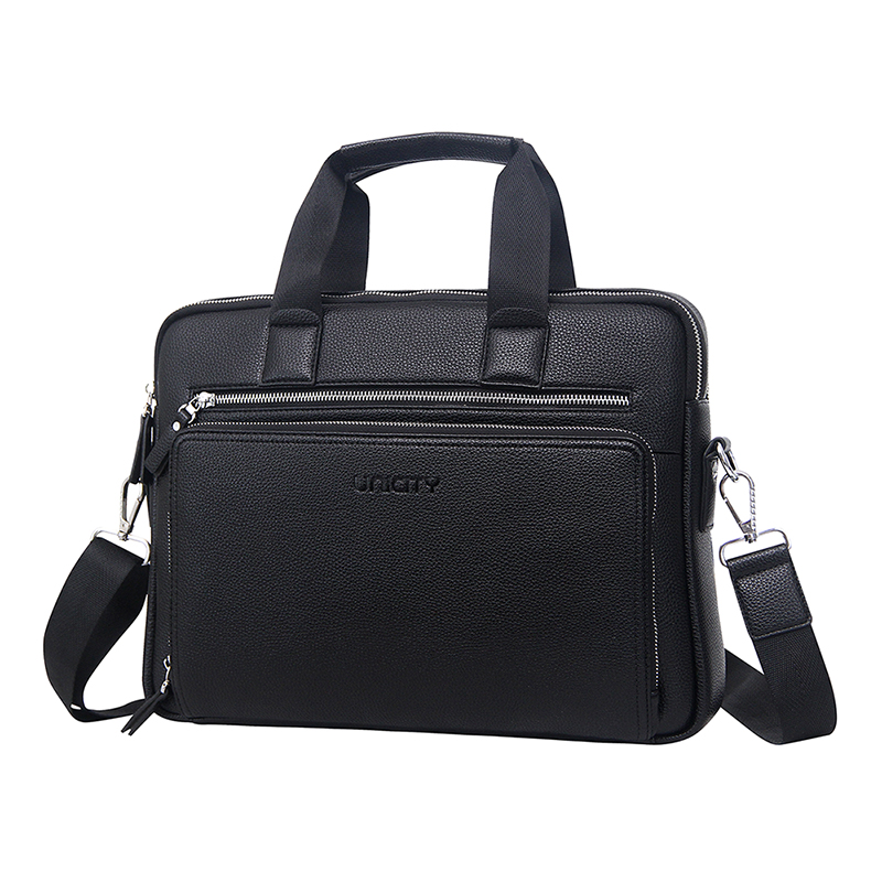 Synthetic leather bag briefcase for business man amazon hotsale style leather briefcase factory price