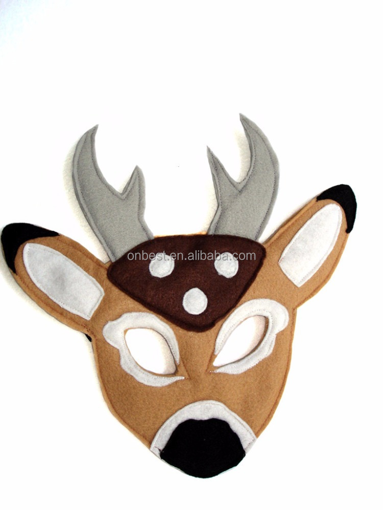 2017 new production fabric deer face mask children party mask