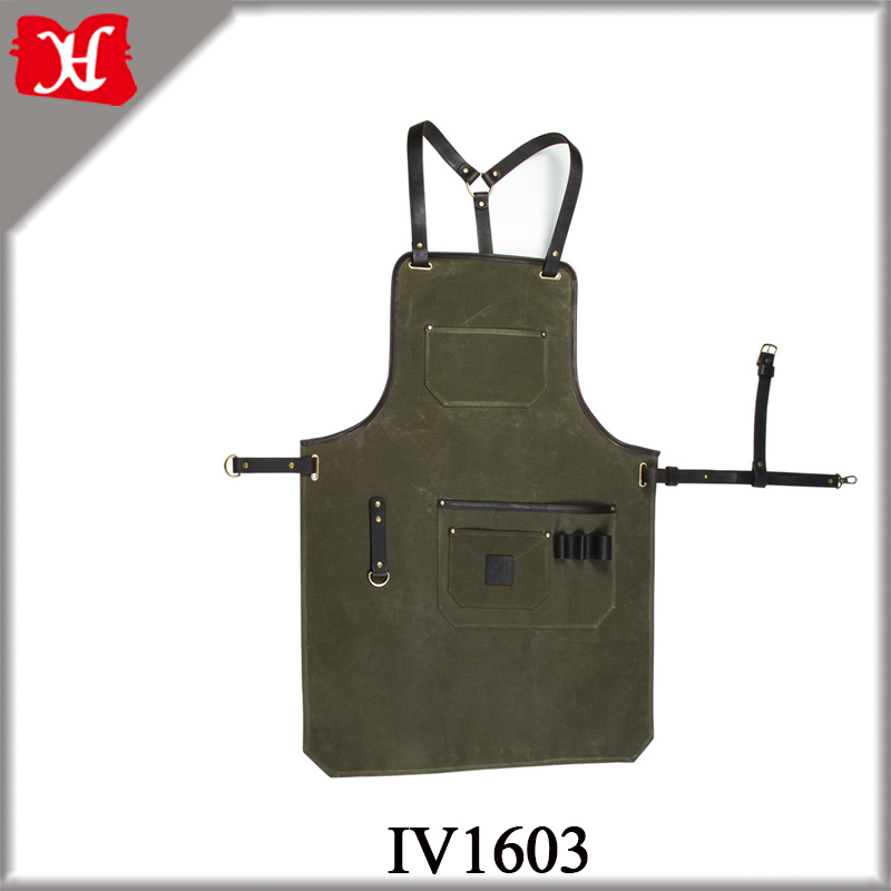 Super Crafted Barber Apron with with Tool Pocket Waterproof Kitchen Apron