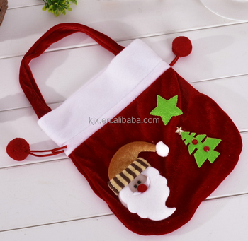 Christmas Santa Claus Tree Star Candy Bag Gift Bag Packaging Bags