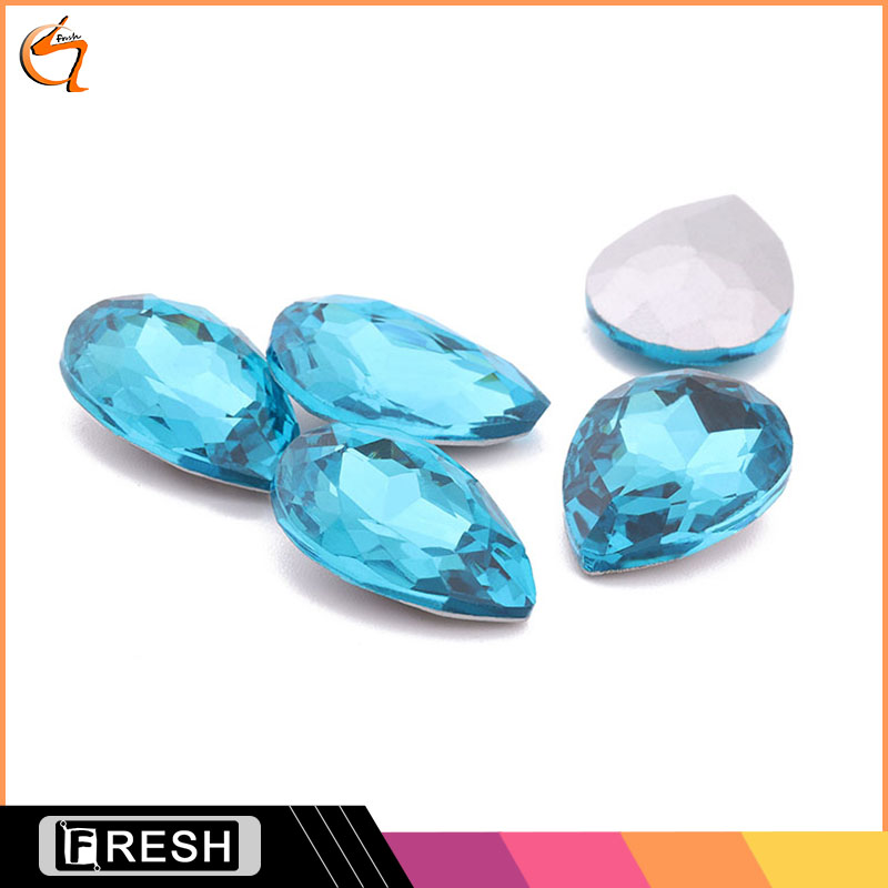 Blue zircon single stone earring designs ,fancy stone buttons