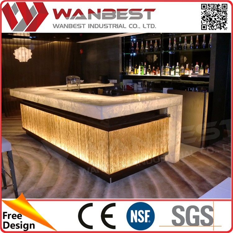 Special design boat shaped bar counter home mini bar for Mini bar counter for home