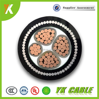 Low Voltage XLPE Insulated Thin Steel Wire Armored PVC Sheathed Copper Conductor Power Core Electrical Cable (Manufacturer)