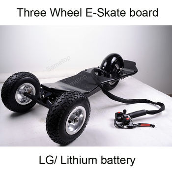 2017new lithium battery electric three wheel Electric skte board 48V mountain board