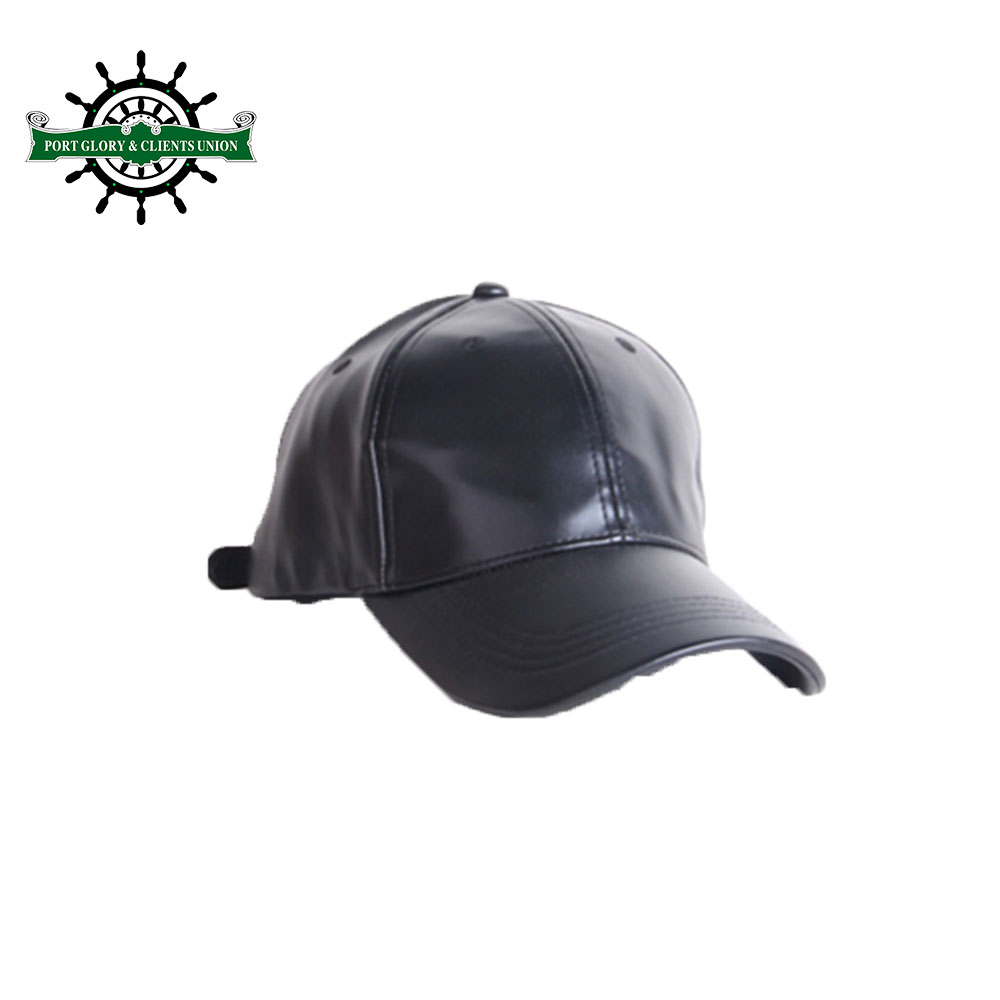 Custom fashion leather baseball <strong>cap</strong> with embroidery