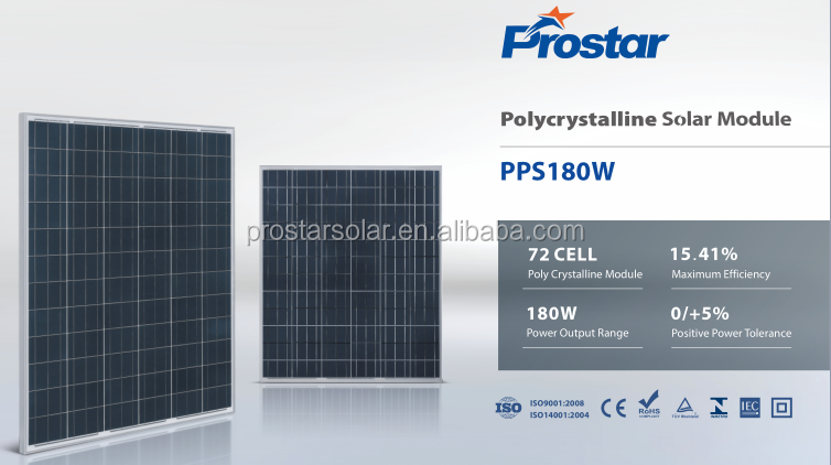 Industrial Solar Plant 3000 kw Solar System Photovoltaic 180W Solar Panels Manufacturer
