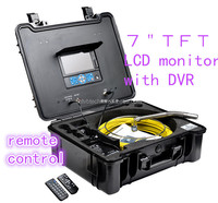 "Sony CCD video pipe inspection camera with 1/3"" Sony CCD and DVR with meter counter,3199F"
