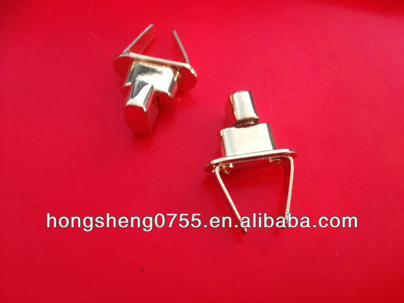 Ellipse Metal Turn Lock for handbag,fashion metal quarter turn twist locks for bags