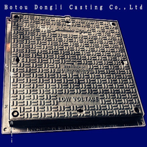Road Facilities Ductile Iron Square Hinged B125 Manhole Covers for Sale