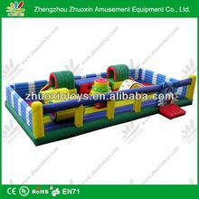 Kids commercial and residential inflatable water obstacle course games for party event