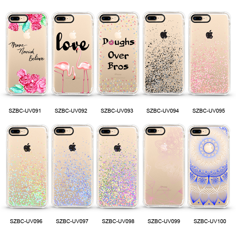 New Products 1.5mm anti-shock Cases with black camera protector for iphone cass custom design for iphone X case tpu