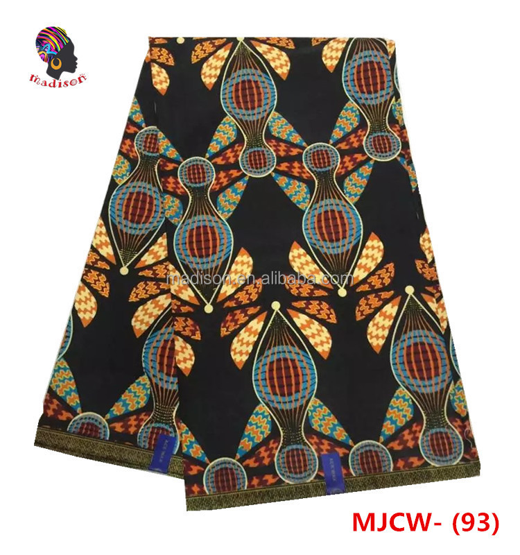 Gzmadison 2016 high quality of cotton wax print fabric/african man veritable prefessional cotton wax fabric /MJCW-93