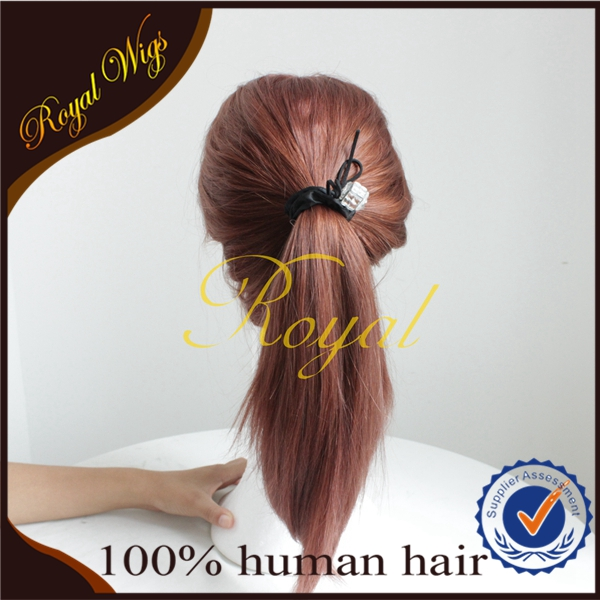 Qingdao Wholesale & Retail Top Grade Remy Mongolian Hair Ponytail Wig Jewish