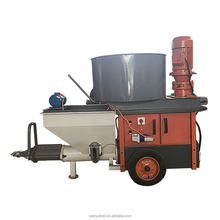 380V 3 Phase Power Cement Sand Putty Mortar Plaster Spraying Machine Mortar Spray Machine with Mortar Mixer