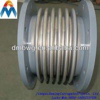 Stainless steel flange end axial bellow compensator