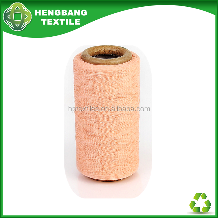 Factory recycled cotton polyester towel yarn , low price