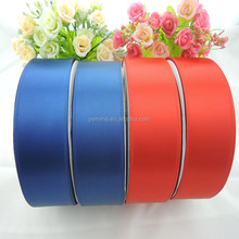 Wholesale Factory supplier Personalized custom high quality 50mm width 100% polyester satin ribbon flower for handcraft