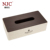 Chinese bathroom accessories box tissue box with base lid for hotel supplies
