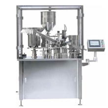 YSG-1 semi automatic plastic disposable syringe prefillable filling and capping machine for gel