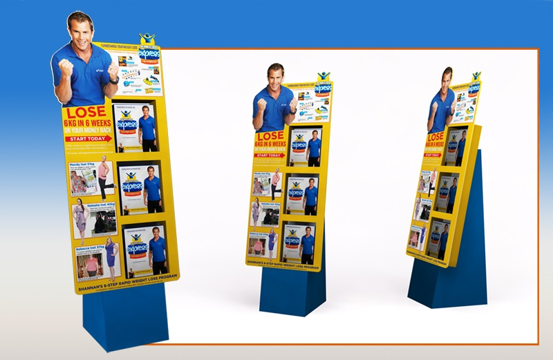 High Quality Custom Product Pop Up Corrugated Cardboard Display Stand