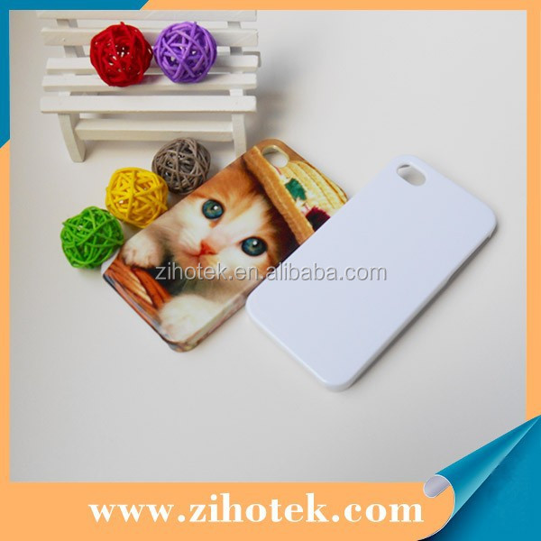 2015 promotion cheap 3D blank sublimation cover cases for iPhone 4 high-temperture-resistant