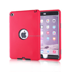 3 in 1 Defender Hybrid Heavy Duty Rubber Shockproof Combo Hard Case Cover For iPad Mini4