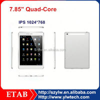7.85 Inch quad core MTK8382/MTK8389 big size 2014 new 3g tablet mtk8382