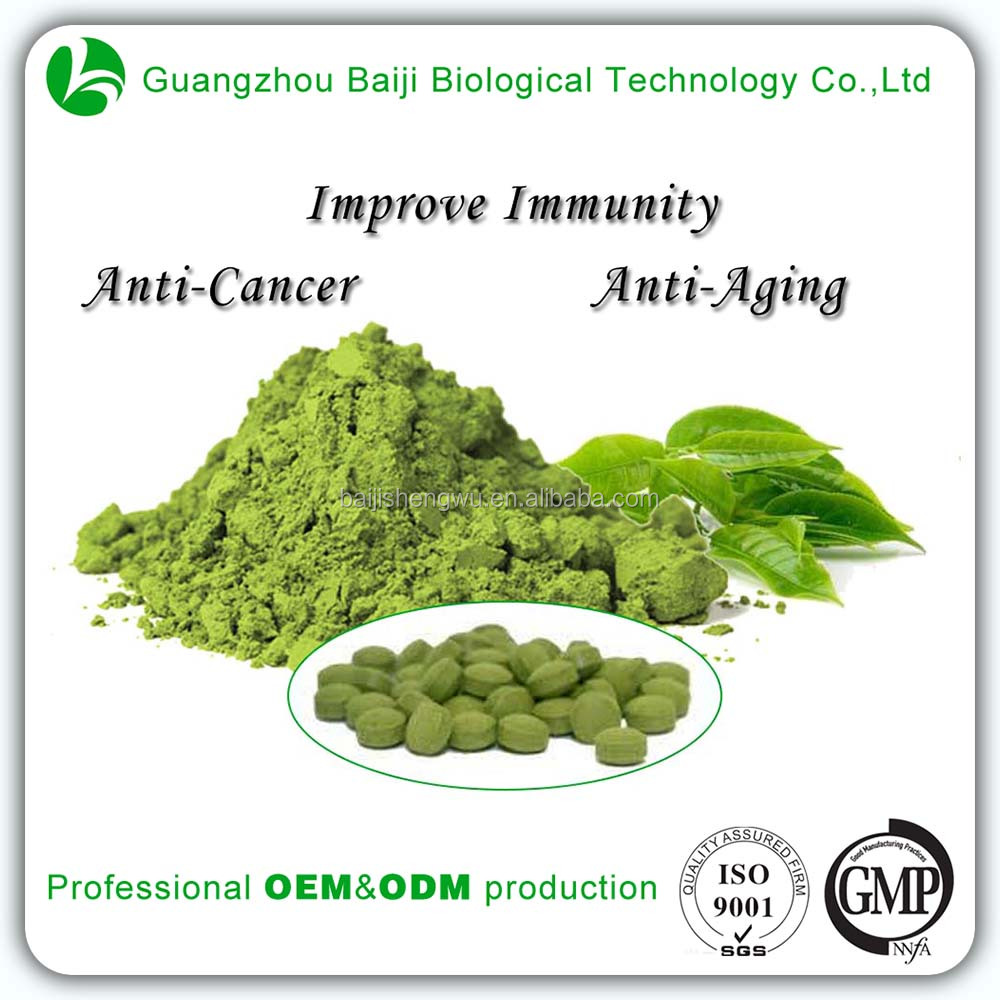 Health Food Print Label Slimming Products Green Tea Powder or Tablet