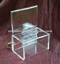 82725 Deluxe Small Acrylic Collection/Coin/Donation Box